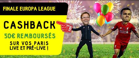 Liverpool x FC Séville: Cashback pour la finale de l'Europa League