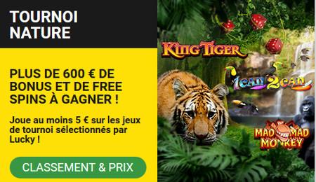 600 euros à gagner avec le tournoi Nature au Casino BetFirst
