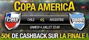 Chili - Argentine: Paris remboursés jusqu'à 50 euros sur  Betfirst.be