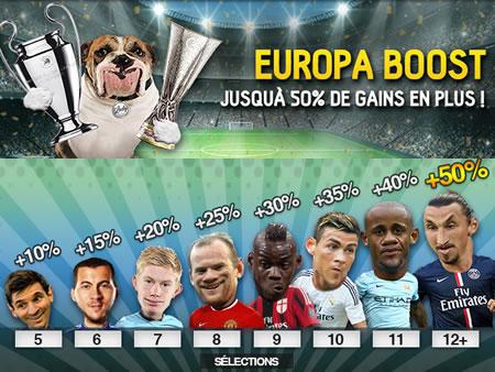 50 % de plus en pariant sur la Champions League et la Ligue Europa
