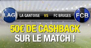 Supercoupe La Gantoise x FC Bruges : 50 € remboursés par befirst