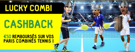 50 euros de paris sans risque chaque semaine sur le tennis