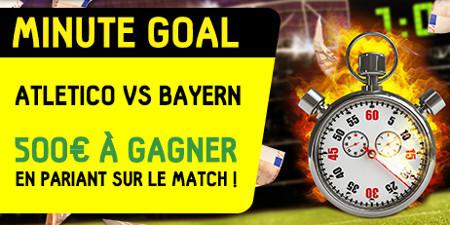 Atletico Madrid x Bayern Munich : trouvez la minute exacte  du 1er but et gagnez 500 €