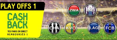 Play-Offs 1 Pro League: Profitez d'un cashback de 30 euros