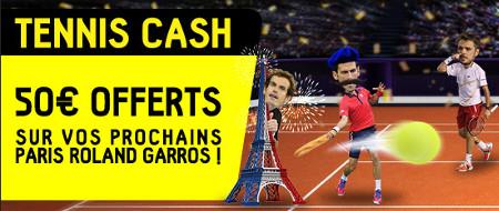 Roland-Garros: 50 euros à gagner sur betfirst.be