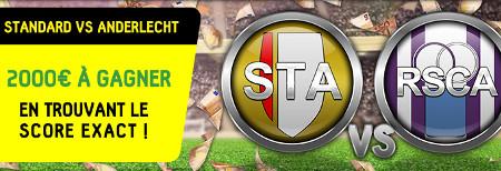Standard x Anderlecht: 2.000 euros à gagner en trouvant le score exact