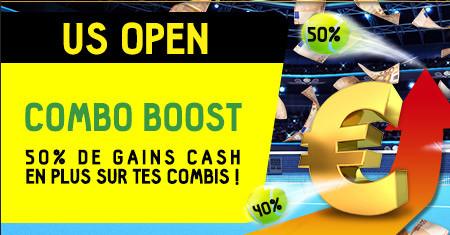 Boostez vos gains sur vos combis de l'US Open