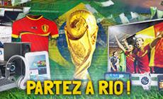 Avec les combi tombolas de betFIRST.be, gagnez des billets pour le mondial de foot 2014 !