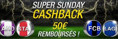 50 € remboursés par Betfirst.be pour FC Bruges x Gantoise et Anderlecht x Standard