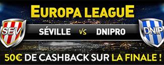 50 € de cashback pour la finale Séville x Dnipro (befFirst)