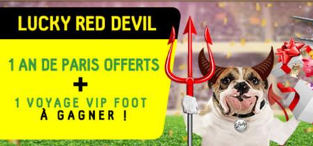 1 an de paris offerts et 1 voyage VIP Foot en pariant sur les Diables Rouges