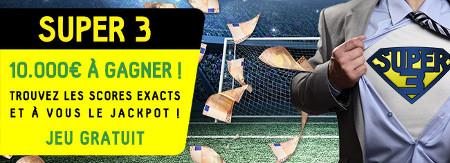Super 3 : 10.000 € à gagner en trouvant les scores exacts