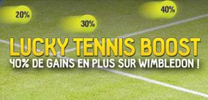 Pendant Wimbledon betFirst vous offre jusqu'à 40 % de gain en plus