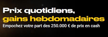 250.000 euros à gagner avec le casino Bwin