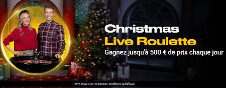 Plein de cadeaux à gagner à la Christmas Live Roulette de Bwin
