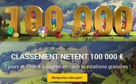 100.000 euros à se partager lors des tournois quotidiens Netent sur bwin.be