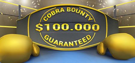 Cobra Bounty : 100.000 $ garantis sur bwin Poker le 31 janvier