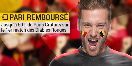 Belgique x Italie: Cashback si les Diables rouges perdent