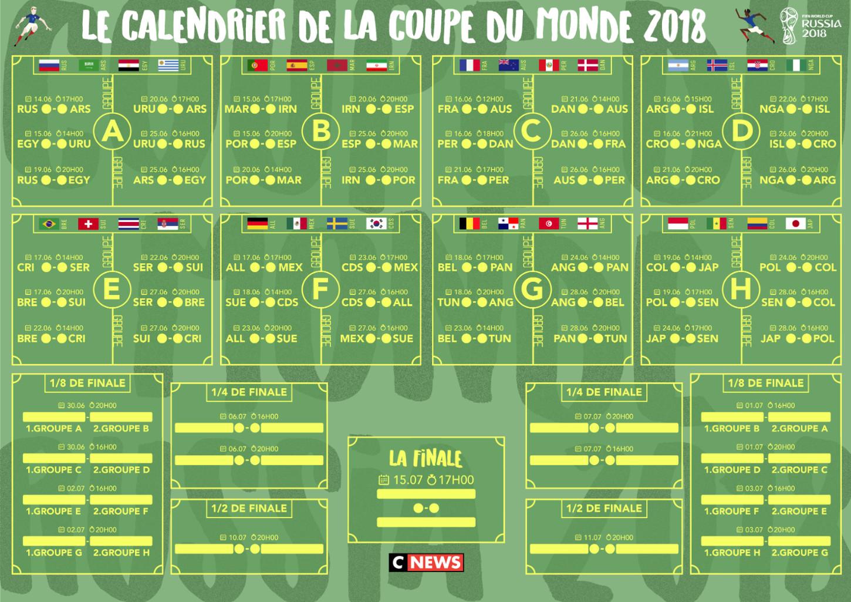 Calendrier France Coupe Du Monde 2018 17