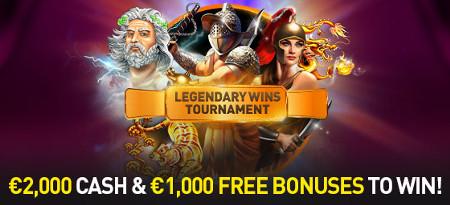 3.000 euros à gagner avec le tournoi Legendary Wins