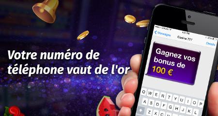 Numéro de téléphone : iPad Mini 4 et des bonus à gagner sur Casino777.be