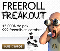 October Freeroll Freakout sur Golden Palace