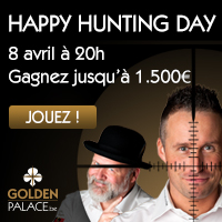 Happy Hunting Day sur GoldenPalace.be le 8 avril 2013